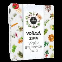 LEROS Voňavá zima darčekový box bylinných čajov 9 x 5 vrecúšok
