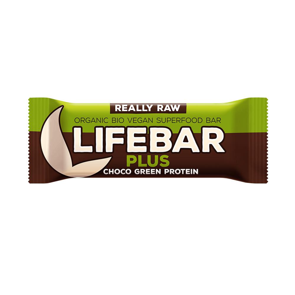Lifebar Plus čokoláda a konopný proteín BIO 47g