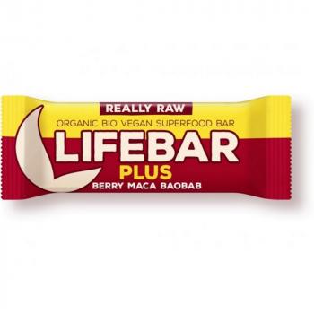 Lifefood Lifebar plus čerešňová s MACO a Baobab BIO 47 g