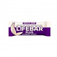 Lifefood Lifebar Plus tyčinka čučoriedková quinoa BIO 47 g