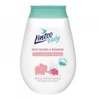 LINTEO Baby Umývací mlieko a šampón s Bio nechtíkom lekárskym 250 ml