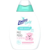 LINTEO Baby Umývacie mlieko a šampón s Bio nechtíkom lekárskym 250 ml