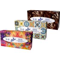 LINTEO Papierové vreckovky 2-vrstvové BOX 100 ks