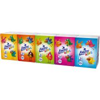 LINTEO Kids Papierové vreckovky 3-vrstvové Mini 10x10 ks