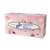 LINTEO Papierové vreckovky s balzamom 3-vrstvové Box 90 ks