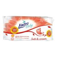LINTEO Baby Vlhčené obrúsky Soft & Cream 120 kusov