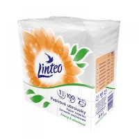 LINTEO Papierové obrúsky 1-vrstvové 30x30 cm 100 ks