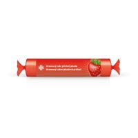 LIVSANE Hroznový cukor s vitamínom C jahodová príchuť, rolka 44 g
