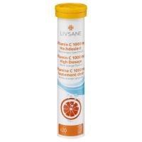 LIVSANE Vitamín C 1000 mg príchuť červený pomaranč 20 šumivých tabliet