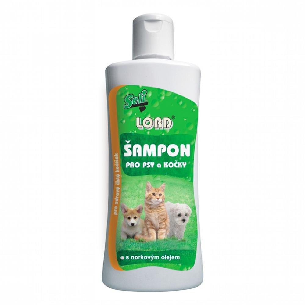 Lord šampón pre psy, mačky s norkovým olejom 250ml