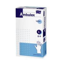 MATOPAT Ambulex rukavice latexové jemne pudrované L 100 kusov