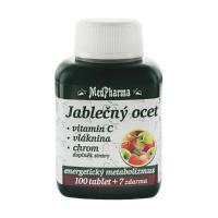 MEDPHARMA Jablčný ocot + vitamín C + vláknina + chróm 107 tabliet