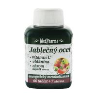 MEDPHARMA Jablčný ocot + vitamín C + vláknina + chróm 67 tabliet