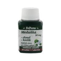 MEDPHARMA Medovka 50 mg + chmeľ + valeriána 37 tabliet