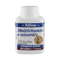 MEDPHARMA Multivitamín s minerálmi 30 zložiek 107 tabliet