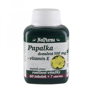 MEDPHARMA Pupalka dvojročné 500 mg + vitamín E 67 tabliet