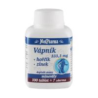 MEDPHARMA Vápnik 333,3 mg + horčík + zinok 107 tabliet