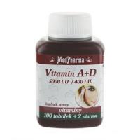 MEDPHARMA Vitamín A + D (5000 I.U./400 I.U.) 107 kapsúl