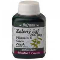 MEDPHARMA Zelený čaj 200 mg + Vitamín E + Selén + Zinok 67 tabliet