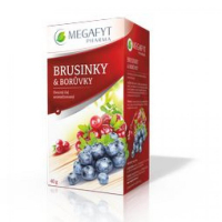 Megafyt ovocný brusnice-cucoriedka čaj 20 x 2 g