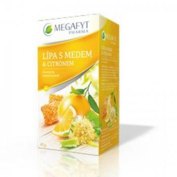 MEGAFYT Ovocny lipa, med, citron 20 x 2 g