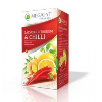 MEGAFYT Ovocny čaj zazvor, citron, chilli 20 x 2 g