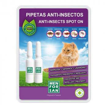 MENFORSAN Antiparazitné pipety pre mačky 2 kusy