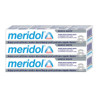 MERIDOL Gum protection Gentle White Zubná pasta pre ochranu ďasien a jemné bielenie 3x 75 ml