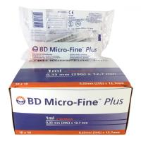 Microfine inzulínová striekačka 1ml U100 BD 100ks
