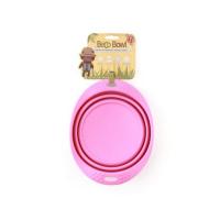BECO Bowl Travel EKO Cestovná miska pre psov ružová S