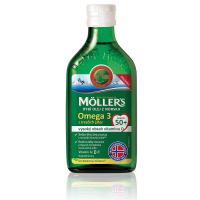 MÖLLERS Omega 3 50+ olej z tresčej pečene s citrónovou príchuťou 250 ml