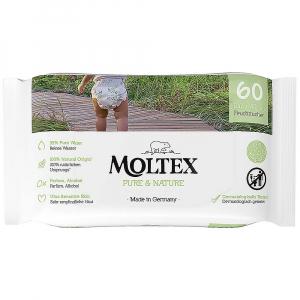 MOLTEX Pure & Nature EKO vlhčené obrúsky na báze vody 60 ks