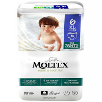 MOLTEX Pure & Nature XL Naťahovacie plienkové nohavičky +14 kg 18 ks