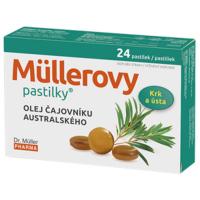 DR. MÜLLER Müllerove pastilky s olejom čajovníka austrálskeho 24 ks