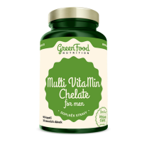 GREENFOOD NUTRITION Multivitamín chelát pre mužov 90 kapsúl