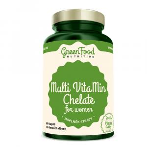 GREENFOOD NUTRITION Multivitamín chelát pre ženy 60 kapsúl