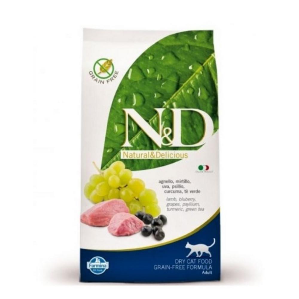 N & D CAT Adult Lamb & Blueberry 1,5kg