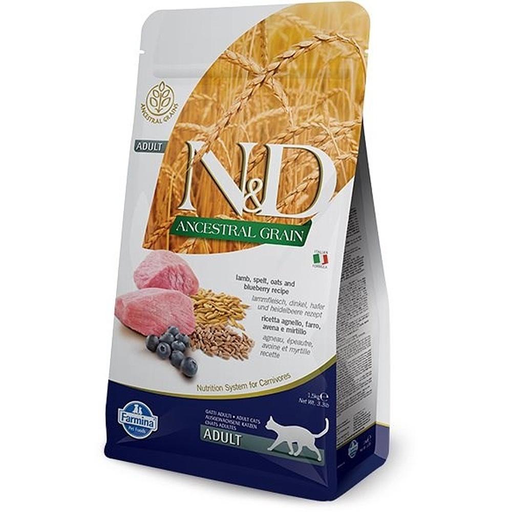N & D Low Grain CAT Adult Lamb & Blueberry 1,5kg
