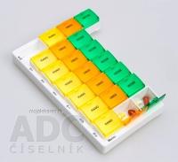 Dávkovač liekov typ 03 týždenný farebný 1 ks