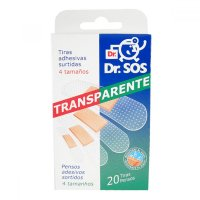 Náplasti Dr.SOS Transparentné vodeodolné elastické mix 20ks