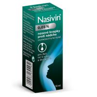 NASIVIN 0,05 % nosová instilácia 10 ml
