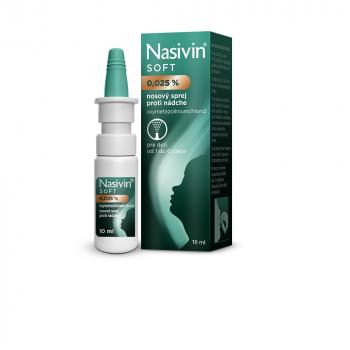 NASIVIN SOFT 0,025 % nosový sprej 10 ml