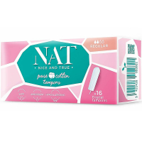 NAT nice & true Tampóny z organickej bavlny - regular 16 ks