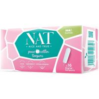 NAT nice & true Tampóny z organickej bavlny - super 16 ks