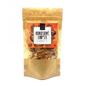 NATU Kokosové chipsy BIO chilli 70 g