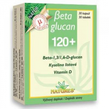 NATURES Beta Glucan 120+ 30 kapsúl
