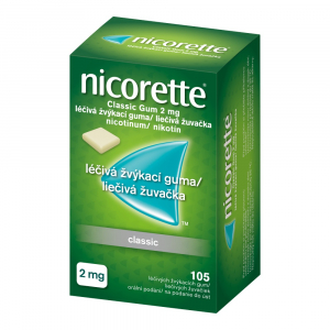 NICORETTE Classic Gum 2 mg 105 liečivých žuvačiek