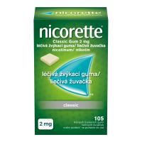 NICORETTE Classic Gum 2 mg liečivé žuvačky 105 ks