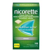 NICORETTE Classic Gum 4 mg liečivé žuvačky 105 ks