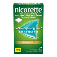 NICORETTE Freshfruit Gum 4 mg liečivé žuvačky 30 ks